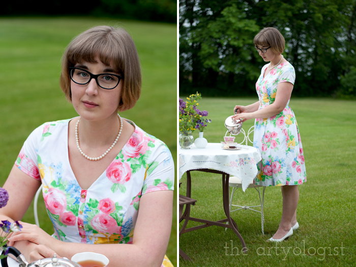 The Ladies Garden Tea (Which is not in a Garden): My Outfit, the artyologist, pouring tea