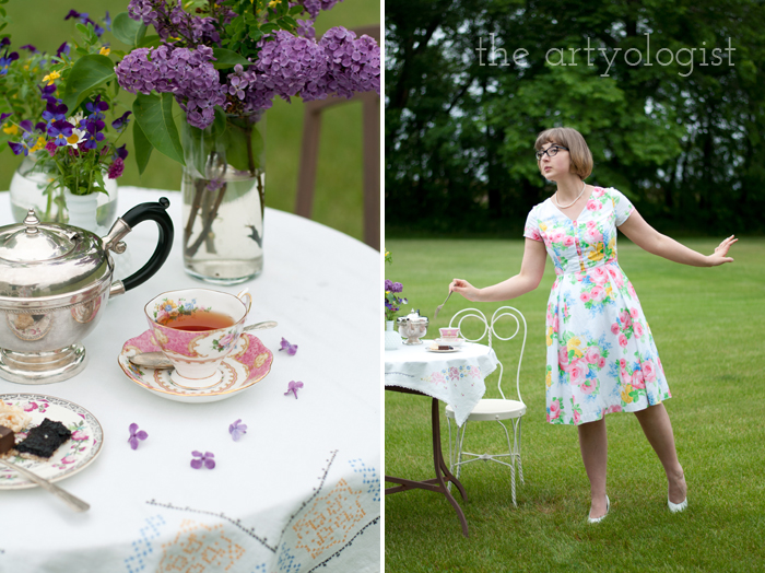 The Ladies Garden Tea (Which is not in a Garden): My Outfit, the artyologist, tasting desserts