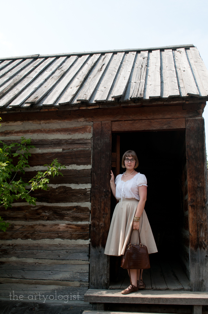 A Period Incorrect Outfit at Heritage Park , the artyologist, in-doorway