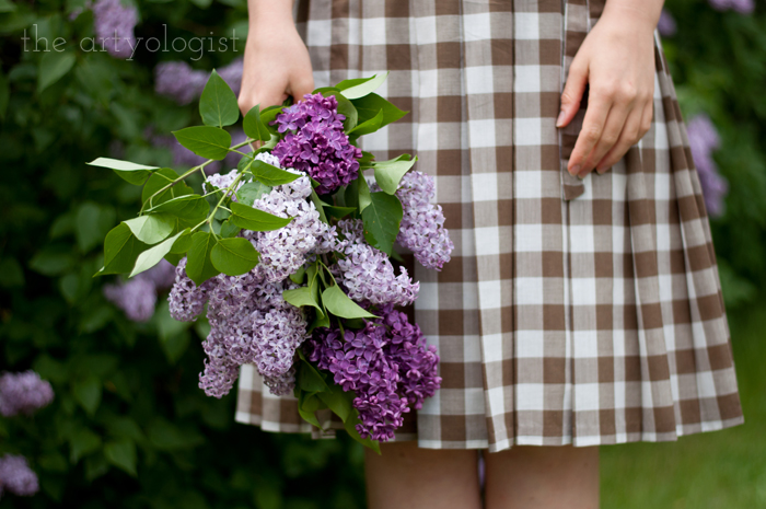 Lilacs, A Gingham Dress and The Second Post That Almost Wasn't, bouquet of lilacs, the artyologist
