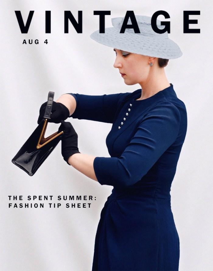 Vintage Vogue: Summer Blues, the artyologist