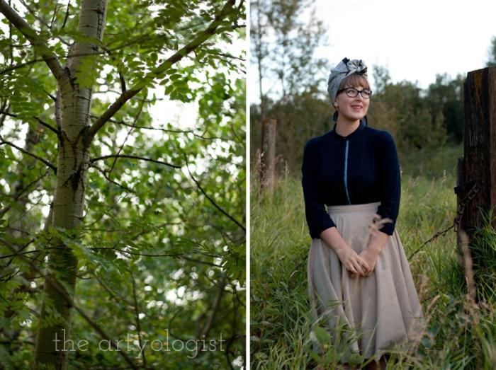 Modern Girl Goes Vintage, the artyologist, vintage look