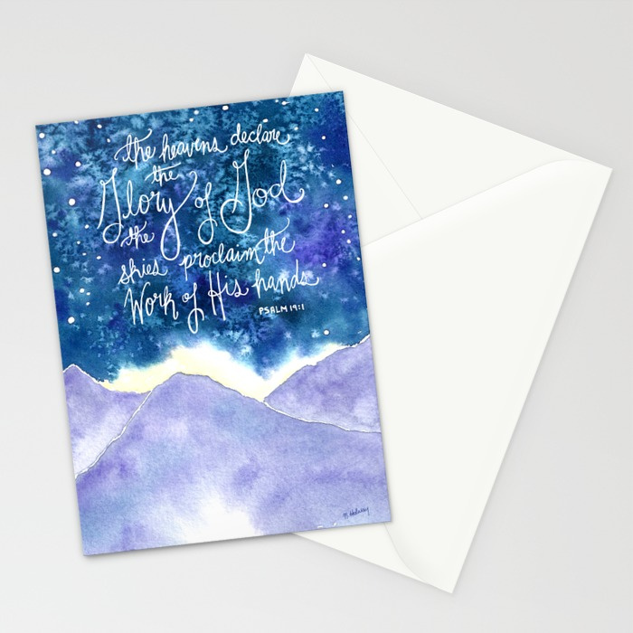 The Heavens Declare Note Cards