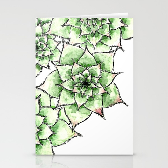 Hens and Chicks, Stationery Cards
