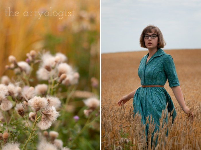 "How to Wear Those ""Problem Garments"", the artyologist, vintage turquoise shirtwaist dress"