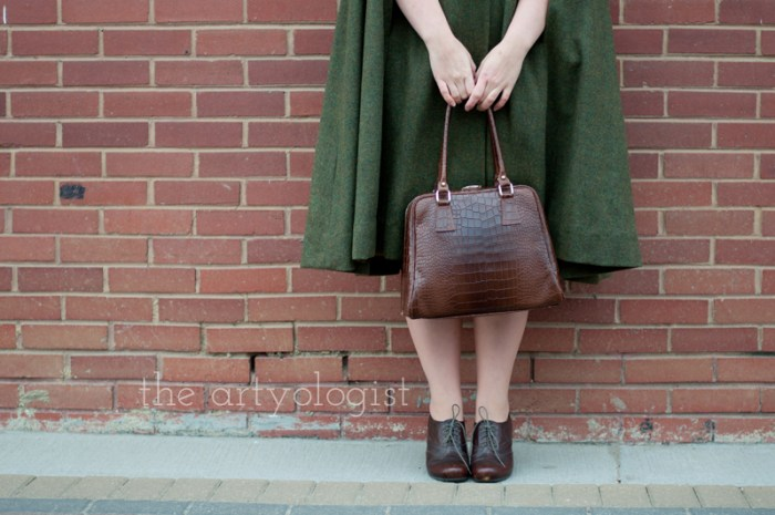 city slicker, the artyologist, vintage style shoes and purse