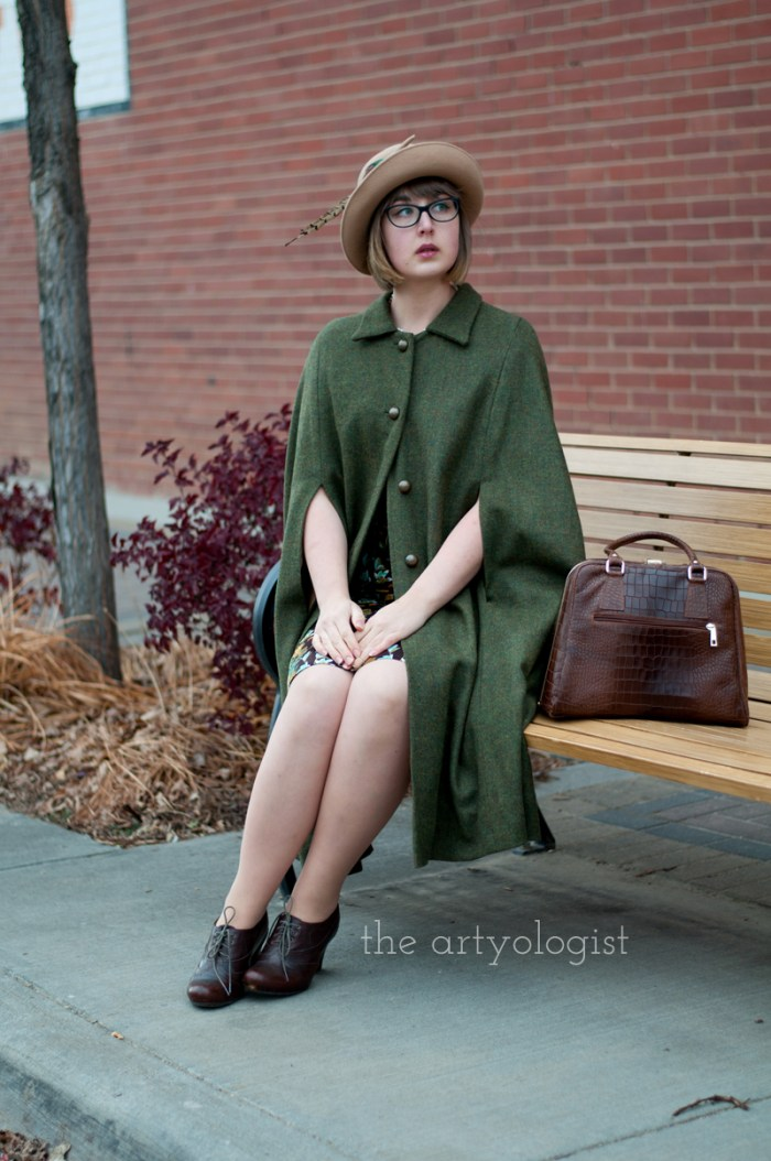 city slicker, the artyologist, sitting on bench