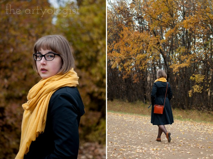 An Outfit For A Rather Windblown Autumn Day, the artyologist, cashmere scarf