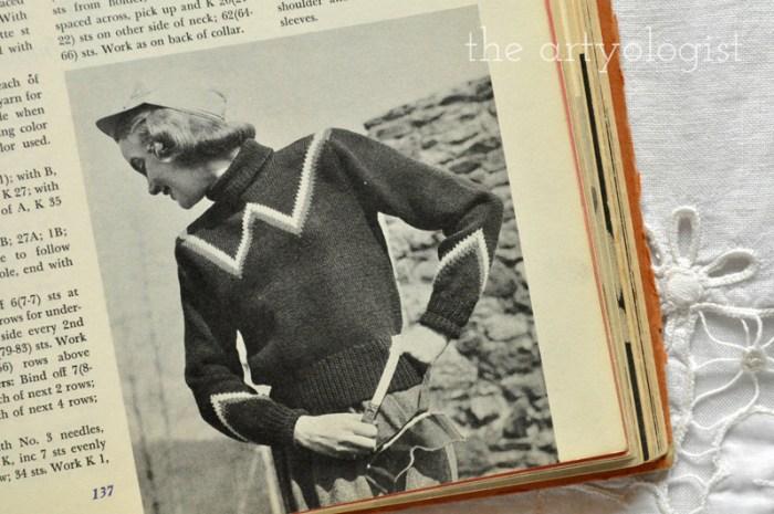 chevron-vintage-sweater mccalls treasury of needlecraft