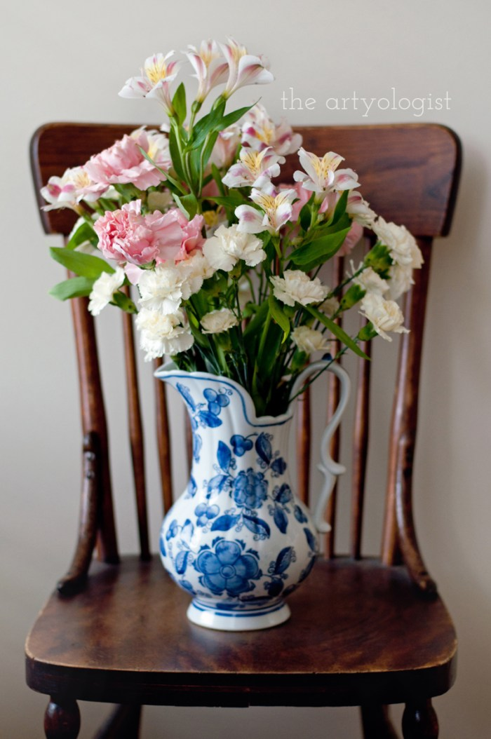 Life Lately and An Everlasting Bouquet of Flowers, on a chair