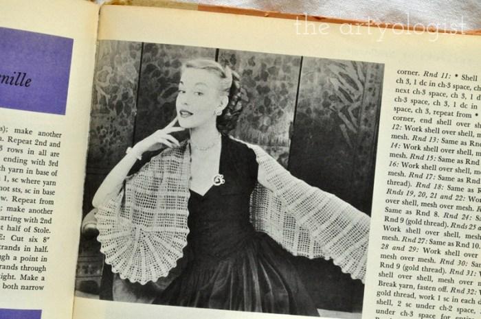 Vintage McCall's Treasury of Needlecraft, shawl, The Artyologist