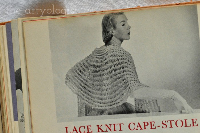 Vintage McCall's Treasury of Needlecraft, knit evening shawls, The Artyologist