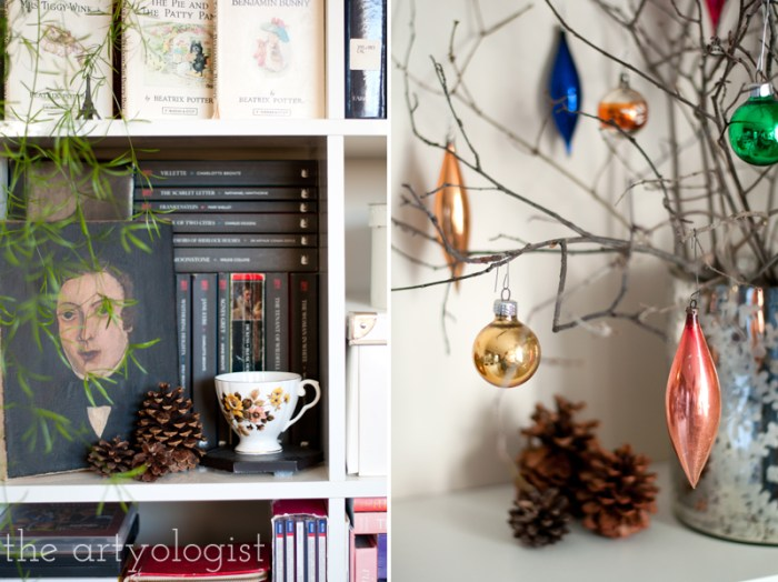 bookshelf-decorations, the artyologist