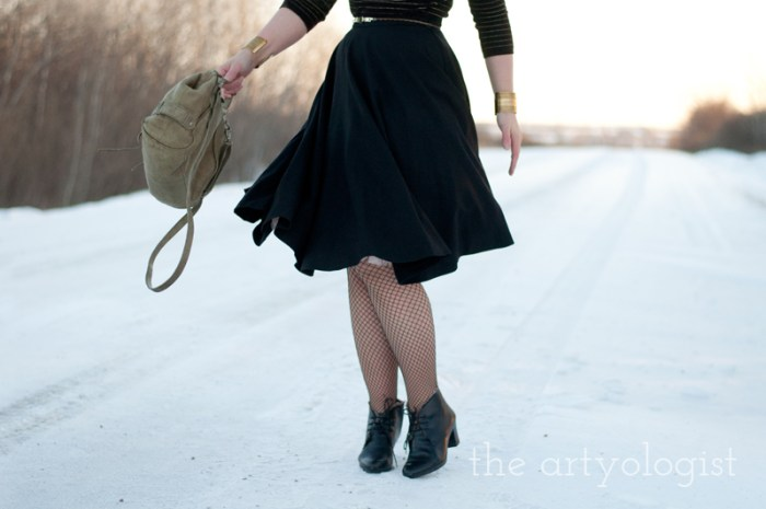 Cashmere is a Sweater, the artyologist, wool circle skirt