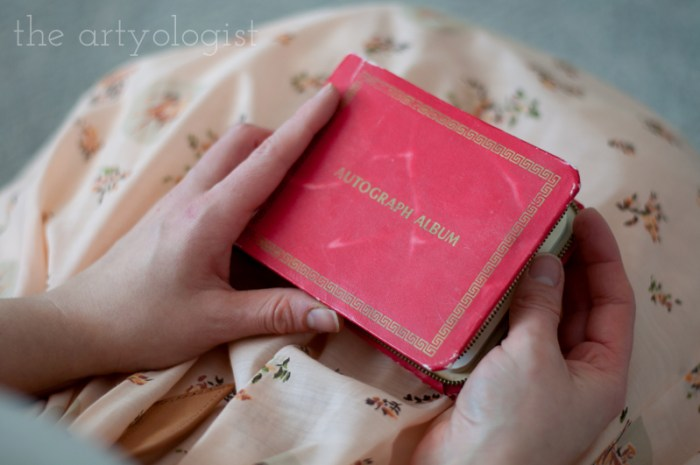 A Peachy Keen Valentine's vintage autograph book cover, the artyologist