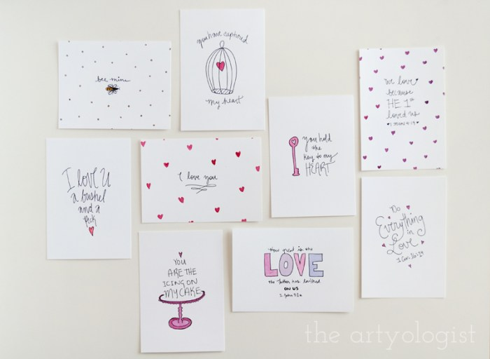 Valentine's Day Cards and Cake, all cards, the artyologist