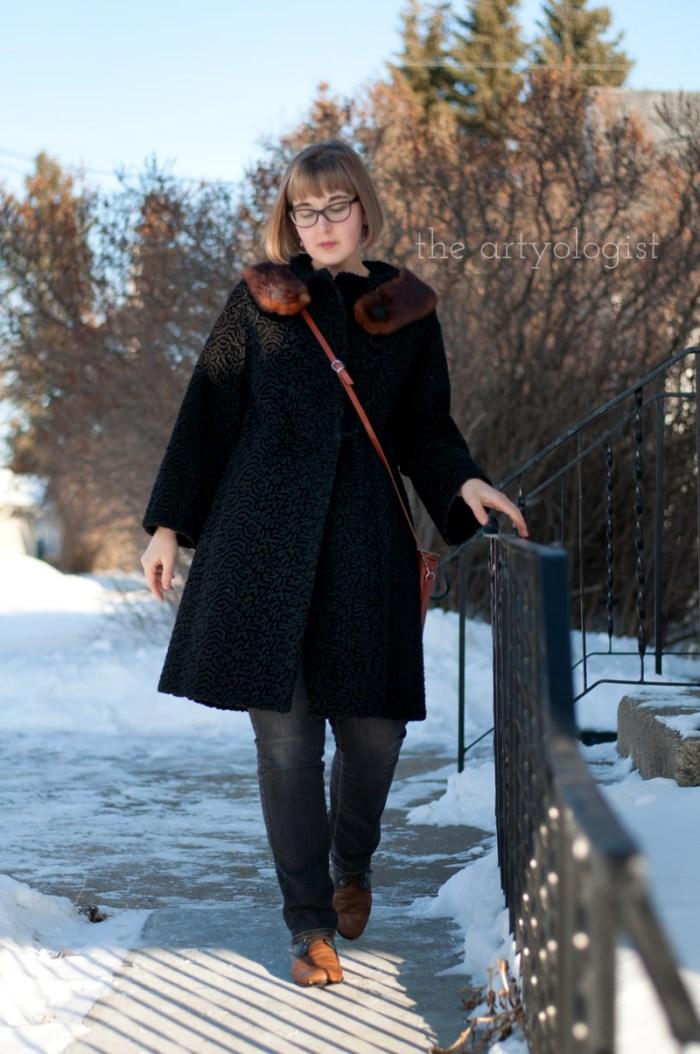 Vintage Modern Mix: Astra Fur & Denim, the artyologist, coat