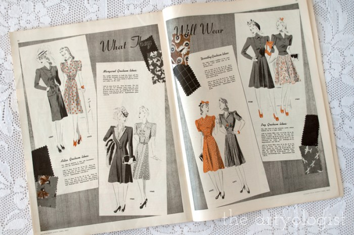 what-they-will-wear, canadian home journal 1941, the artyologist