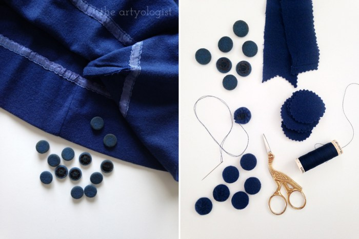12 Ways to Recycle & Refashion Used Clothing & Textiles, the artyologist, covering buttons