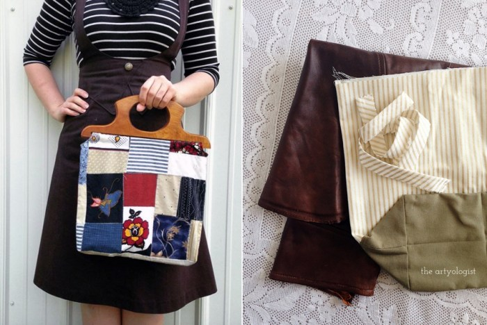 12 Ways to Recycle & Refashion Used Clothing & Textiles, the artyologist, bags out of scraps
