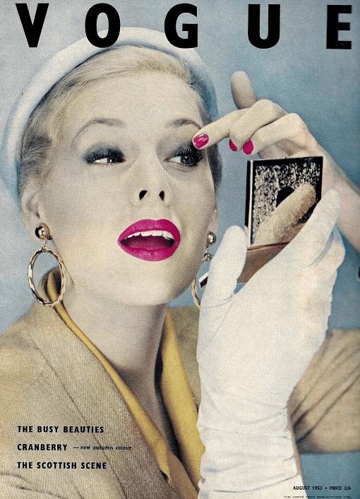 vintage august 1953 vogue cover