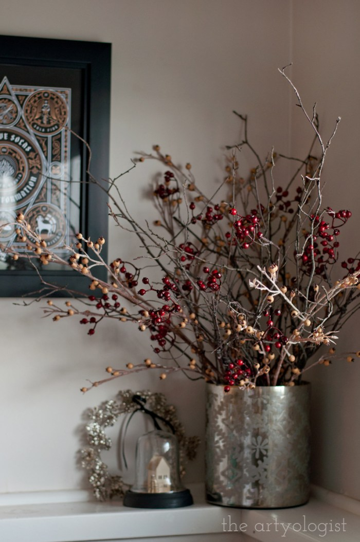berry and branch christmas bouquet