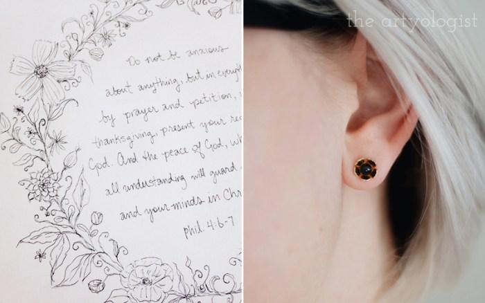poppy earrings for spring