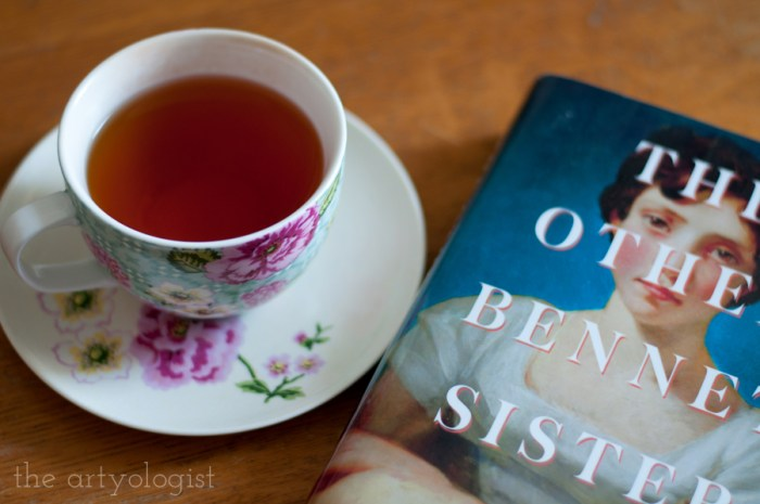 the other bennet sister book and a cup of tea