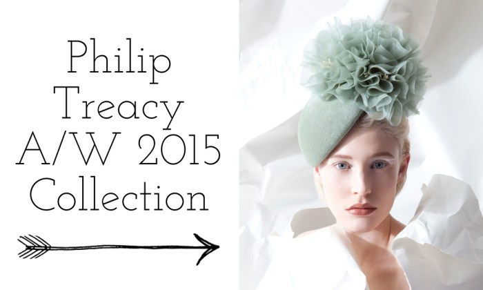 philip treacy's 2015 collection mint green hat with a chiffon pompom on top