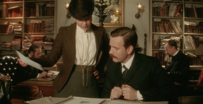miss potter reviewing her book in London