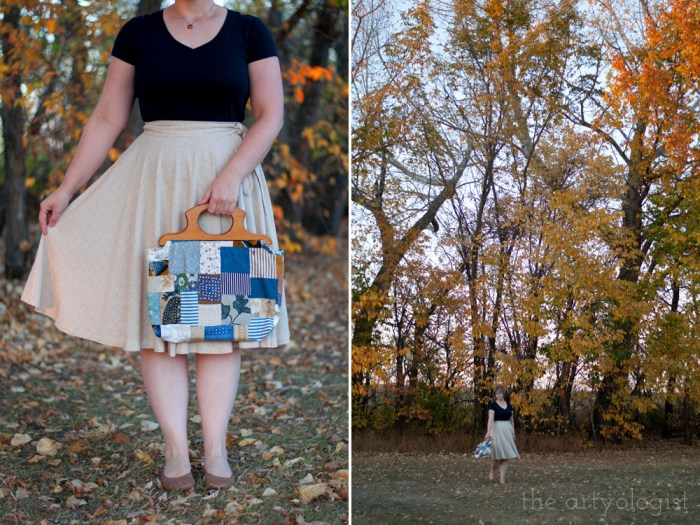 patchwork quilted purse