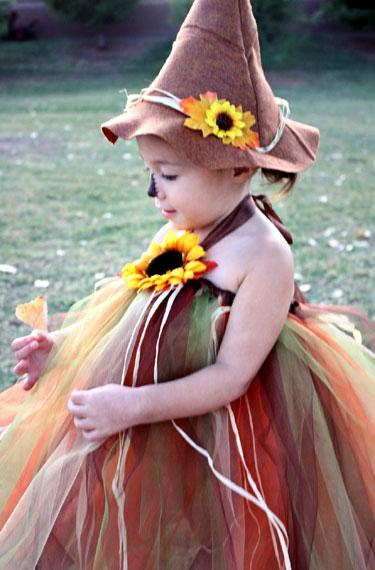 Scarecrow Halloween Costume Tutu With Felt Hat