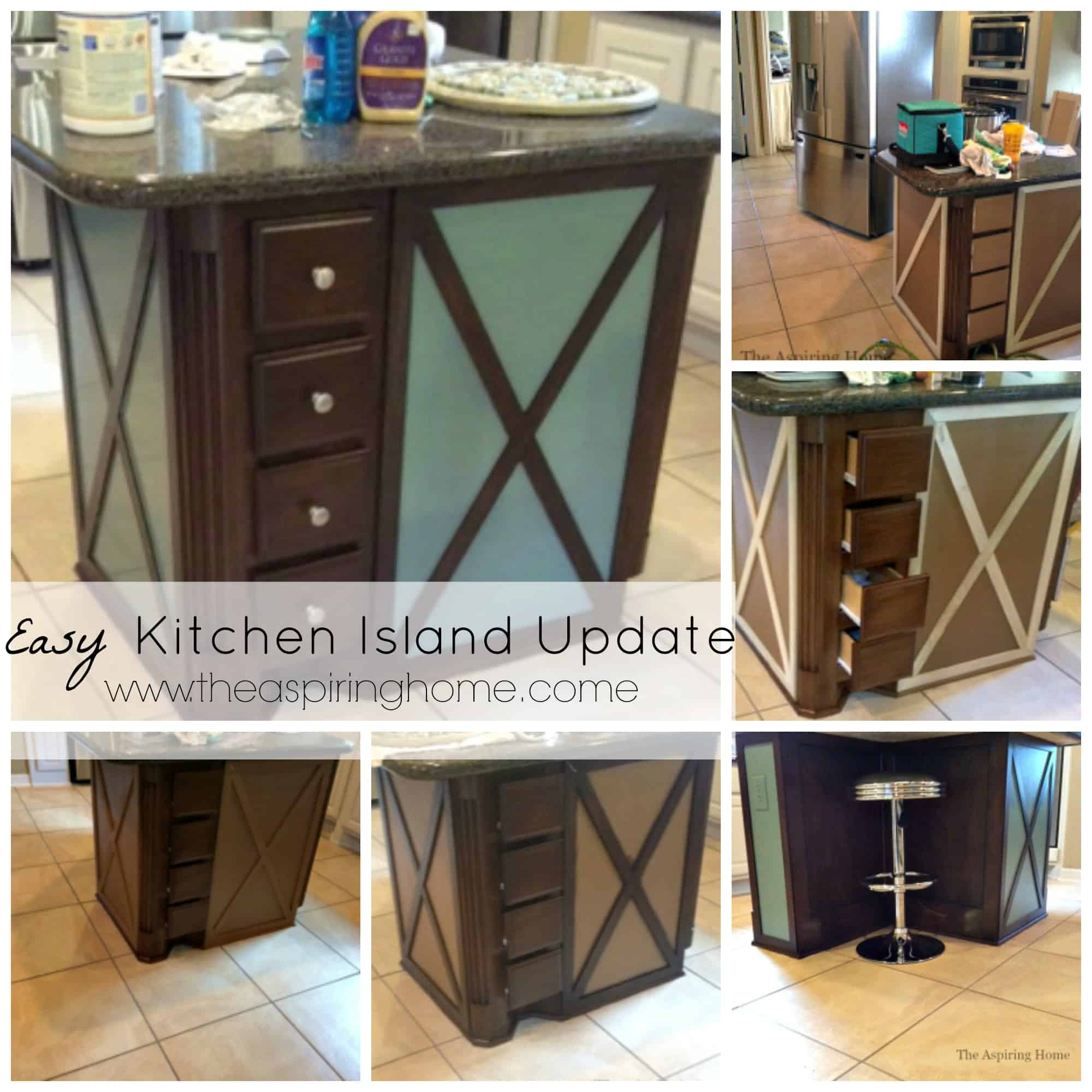 Easy Kitchen Island Makeover The Aspiring Home
