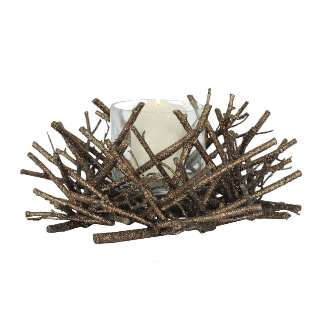 Bronze Twigs with Glass, $24.99