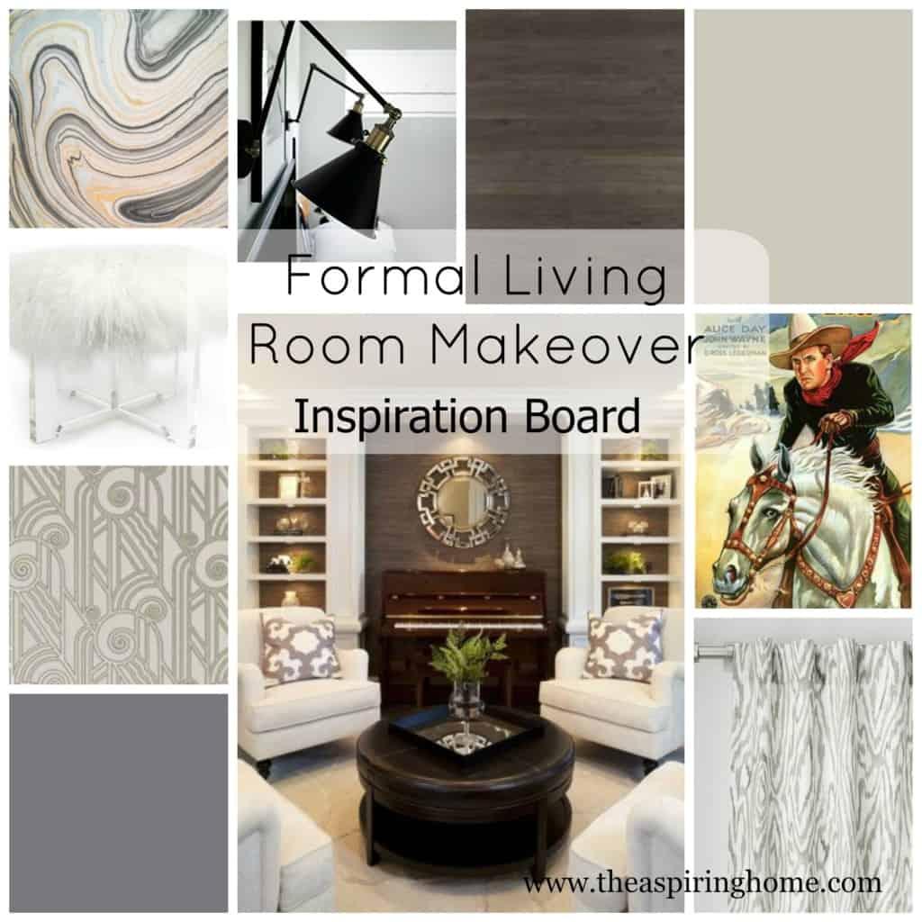 Formal Living Room Inspiration Board theaspiringhome.com