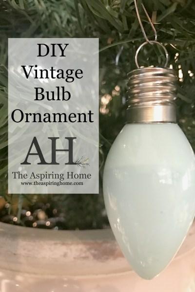 5 DIY Steps To Create A Custom Vintage Bulb Ornament