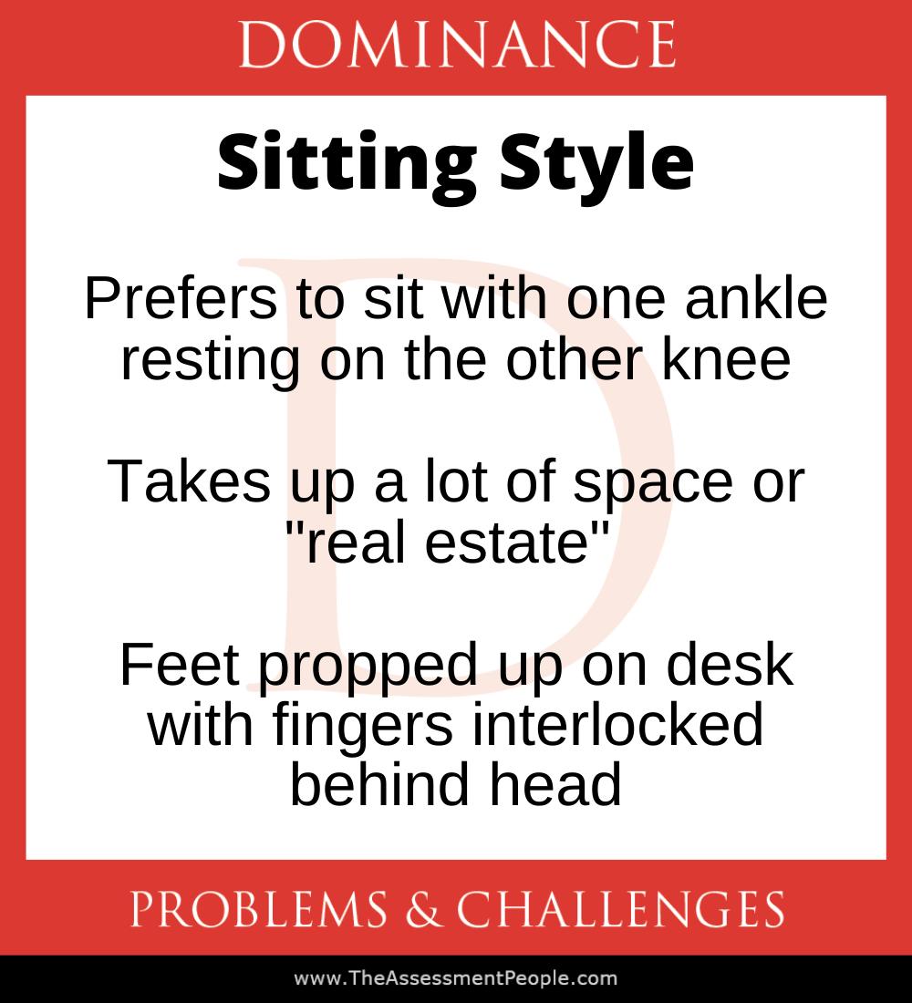 DISC Dominance Sitting Style