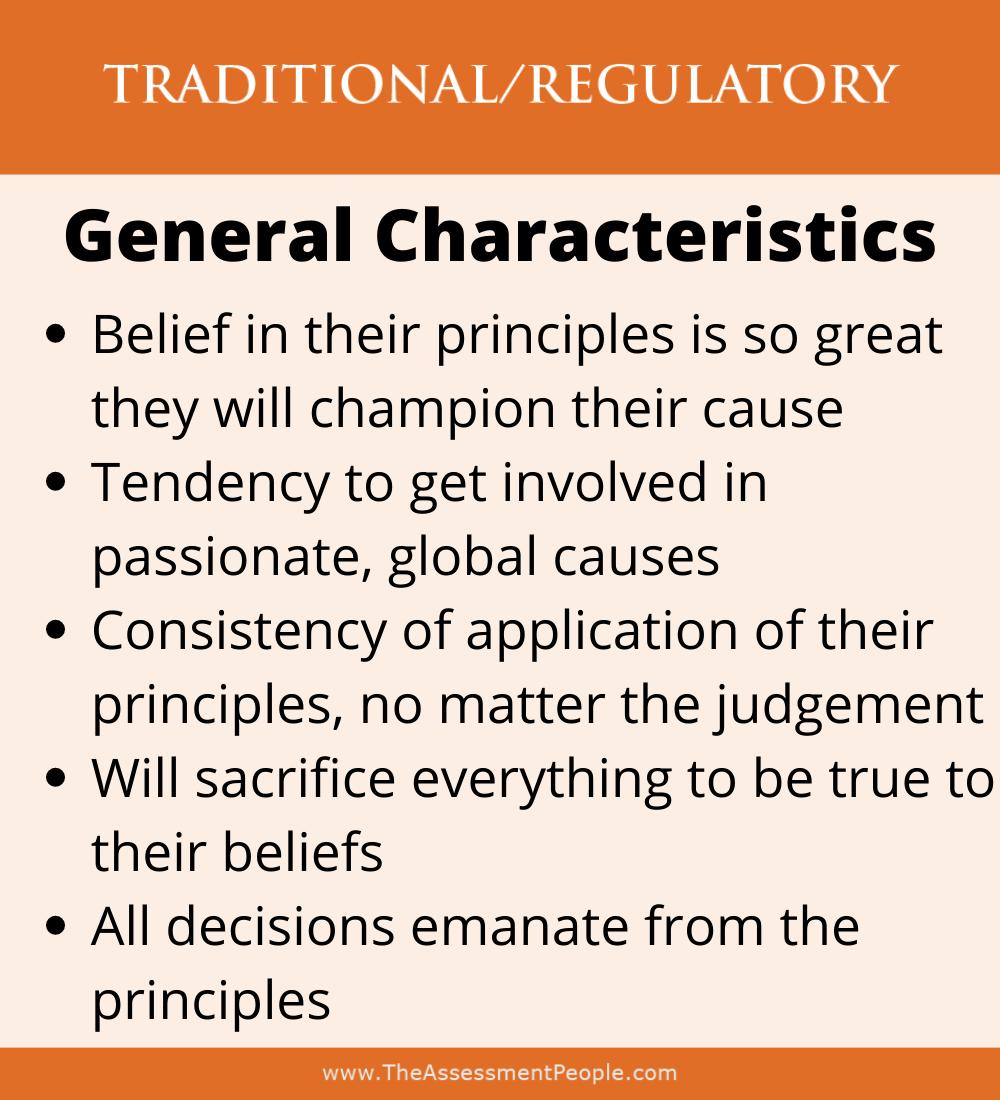 Traditional Motivator Characteristics