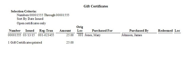 Gift Certificates Picture 9