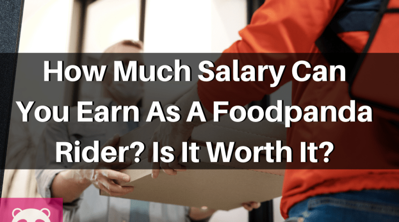 How much salary can you earn as a Foodpanda Ride