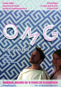 Theatergroep SNEU Utrecht speelt OMG - poster OMG - 25 en 26 maart 2017
