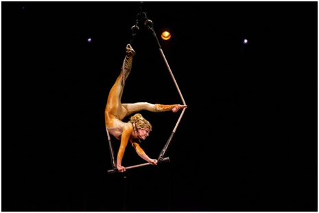 A trapeze artist in Varekai (Photo credit: Courtesy of Cirque de Soleil)