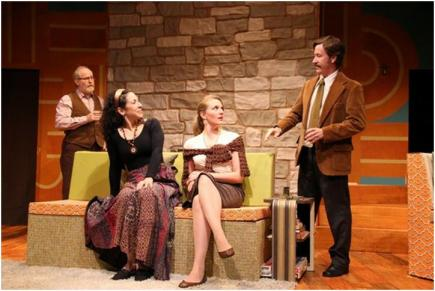 Michael Selkirk, Christine Verleny, Laurie Schroeder and Greg Oliver Bodine in a scene from Dana Leslie Goldstein's Daughters of the Sexual Revolution(Photo credit: Gerry Goodstein)