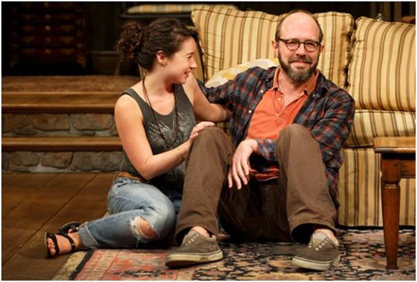"Sarah Steele and Eric Lange in a scene from ""The Country House"" (Photo credit: Joan Marcus)"