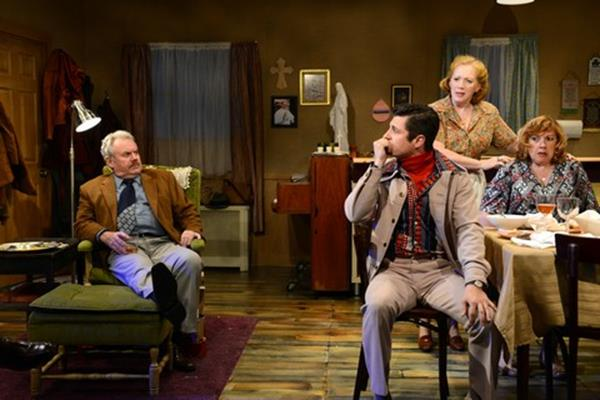"Peter Cormican, James Mitchell Lambert, Kate Kearney-Patch and Paula Ewin in a scene from ""The Brightness of Heaven"" (Photo credit: John Quilty)"