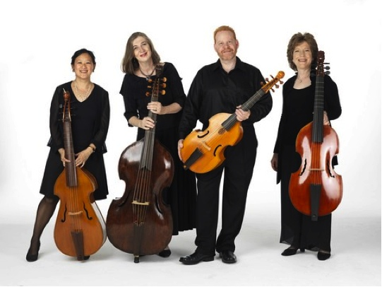"Parthenia Viol Consort presents ""For Ye Violls"": ""The Consort Setts for 5 viols"" by William Lawes (Photo credit: William Wegman)"