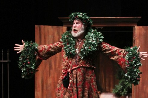 "Michael Selkirk as The Ghost of Christmas Past in Titan Theatre Company's ""A Chirstmas Carol"""