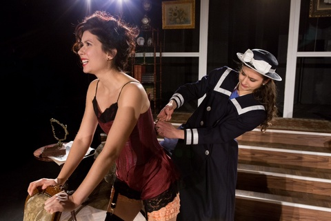 "Kate Chamuris and Connie Castanzo in a scene from Anita Loos's ""Gigi"" (Photo credit: Michael Abrams)"