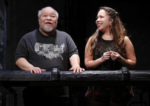 "Stephen McKinley Henderson and Rosal Colón in a scene from ""Between Riverside and Crazy"" (Photo credit: Carol Rosegg)"