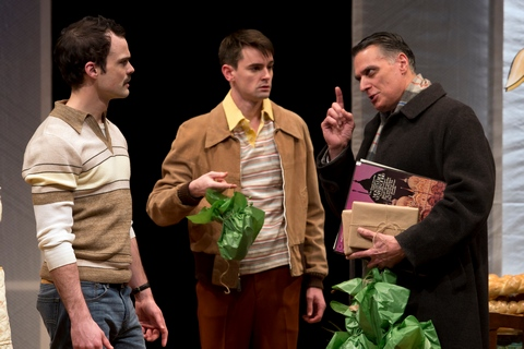 "Stephen Plunkett, David McElwee and Robert Cuccioli in a scene from ""Snow Orchid"" (Photo credit: Jeremy Daniel)"